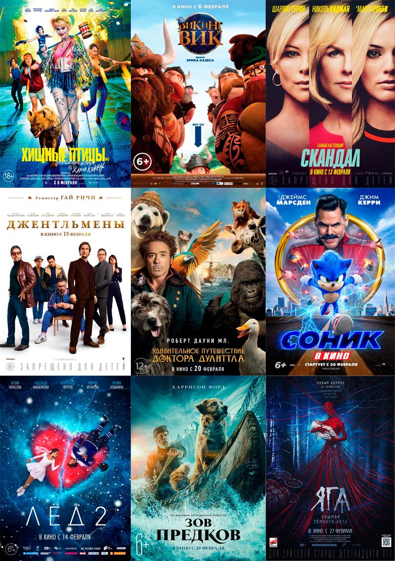 Что смотреть в кинотеатрах Владимира в феврале 2020. Владимирская афиша
